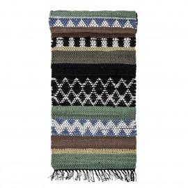 bloomingville tapis long colore coton motifs huxi