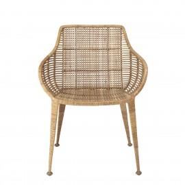 bloomingville chaise fauteuil lounge rotin tresse naturel amira