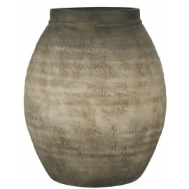 ib laursen pot de fleur style brut rustique jarre ceramique gris taupe
