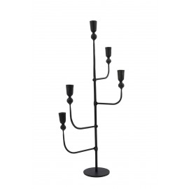 house doctor chandelier design epure 5 branches metal noir forge ira