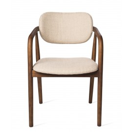 pols potten henry fauteuil de table classique elegant bois tissu beige