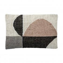 bloomingville coussin rectangulaire laine motif graphique abstrait