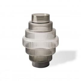 pols potten steps vase design retro 70 s verre gris