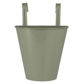 cache pot metal zinc a suspendre au mur vert ib laursen
