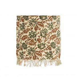 Abat-jour coton imprimé floral Madam Stoltz
