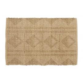 petit tapis naturel motif jute jonc de mer nordal amaya