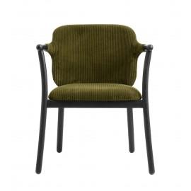 fauteuil de table chic bois noir velours cotele vert nordal esrum