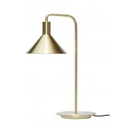 hubsch lampe de table metal laiton dore style classique chic
