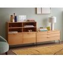 hk living meuble modulaire bois clair 3 tiroirs element e