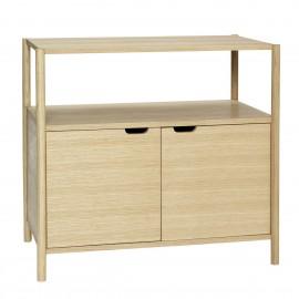 hubsch meuble de rangement commode scandinave bois clair