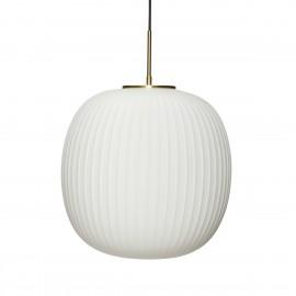 hubsch suspension design scandinave boule verre blanc texture laiton
