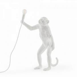 Lampe à poser singe debout Seletti Monkey Lamp Standing blanc