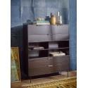 hk living meuble contemporain modulable bois noir element e