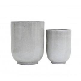 house doctor cache pot contemporain gris ceramique pho