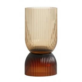 Vase classique verre strié Nordal Riva