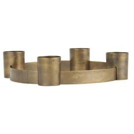 ib laursen bougeoir cercle metal dore laiton 4 bougies
