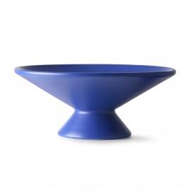 hk living coupe a fruits design gres bleu cobalt