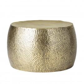 bloomingville table basse ronde metal dore martele style oriental
