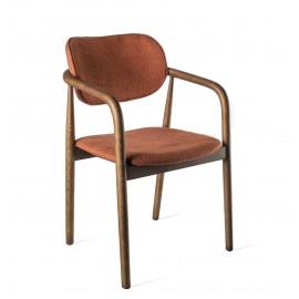 pols potten henry chaise design scandinave classique tissu rouille