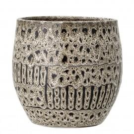 bloomingville cache pot motif decoratif terre cuite bakir