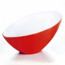 Saladier design rouge asymétrique asa vongole 32,5 cm