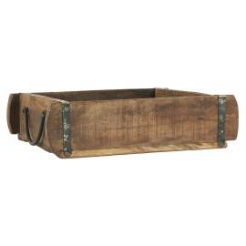 ib laursen plateau cuisine vintage bois recycle moule a brique indien