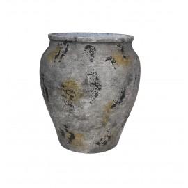 muubs jarre ciment aspect rustique vieilli rouille hanja