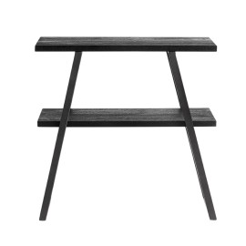 console rangement design epure bois manguier noir metal muubs quill