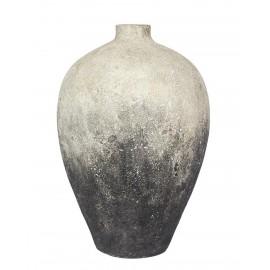 muubs jarre story 60 terre cuite aspect rugueux rustique degrade gris