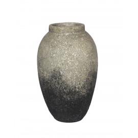 muubs story vase design contemporain terre cuite degrade gris