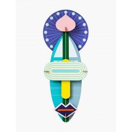 masque geant xl decoratif mural carton studio roof deluxe cosmos