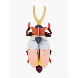 scarabee rhinoceros geant décoration murale carton studio roof deluxe