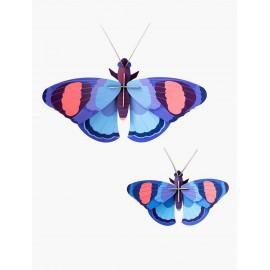 papillons geant xl paon bleu decoration murale studio roof deluxe