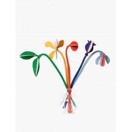 bouquet de 5 fleurs en carton Studio Roof Gardens of Agnès