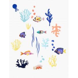 Décor mural poissons Studio Roof Mur de Curiosités Monde Marin