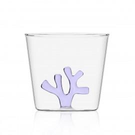verre a eau borosilicate ichendorf corail coral reef mauve lilas