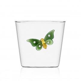 Verre à eau papillon Ichendorf Garden Picnic vert
