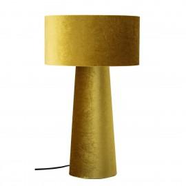 bloomingville dafna lampe design a poser en textile jaune dore