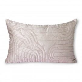 hk living coussin rectangulaire chic neo art deco rose nude