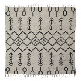 house doctor arte tapis style berbere beige motif ethnique 180 x 180