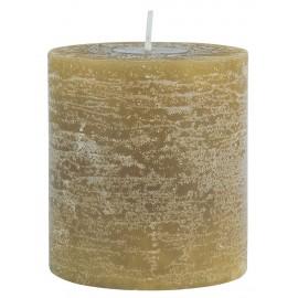 ib laursen bougie pilier rustique ancien vintage jaune moutarde