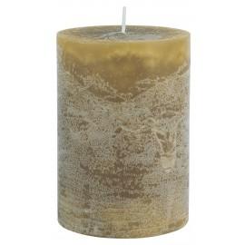 bougie cylindre pilier rustique jaune moutarde ib laursen