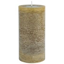 grande bougie cylindre rustique jaune moutarde ib laursen