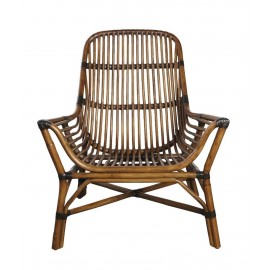 fauteuil bas lounge en rotin style colonial house doctor colony