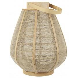 ib laursen lanterne toile de jute bois clair naturel