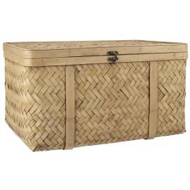 coffre de rangement malle bois de bambou tresse ib laursen