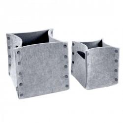 Range revues sac feutrine Mellow gris