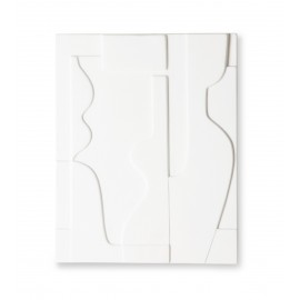 hk living panneau mural ceramique abstrait blanc