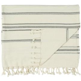 serviette de hammam fouta blanc noir ib laursen