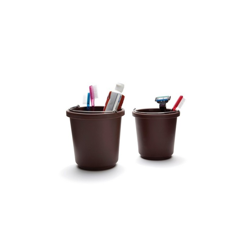 rangement original seau buckit chocolat pa design set de 2 kdesign. Black Bedroom Furniture Sets. Home Design Ideas